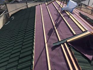 柏原市 屋根重ね葺き