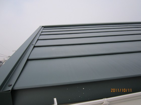 堺市 屋根重ね葺き(カバー工法)
